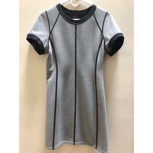 THEORY Grey and Black Reversible Dress